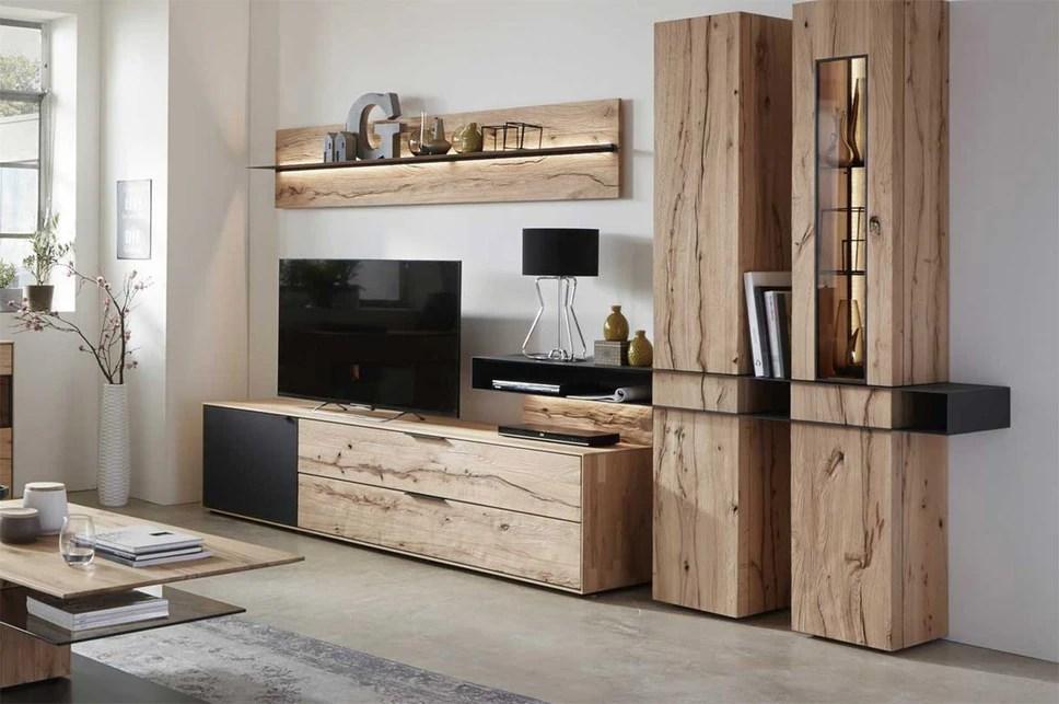 Porta tv in legno Kali mobile soggiorno portatv unico e