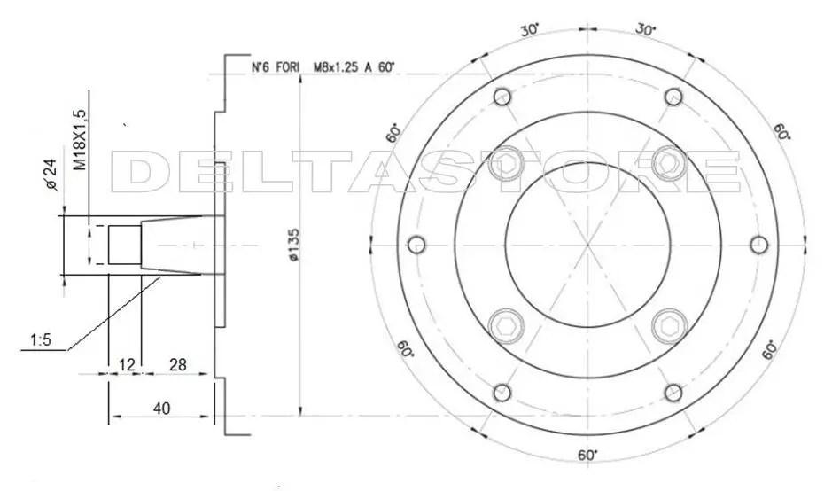 MOTORE LOMBARDINI DIESEL 3LD450/S BCS albero conico 24mm
