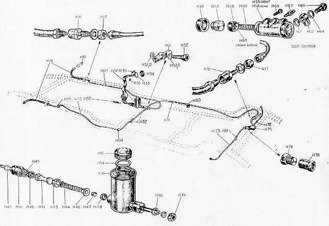 Series I Morris 8 Master Cylinder Pushrod