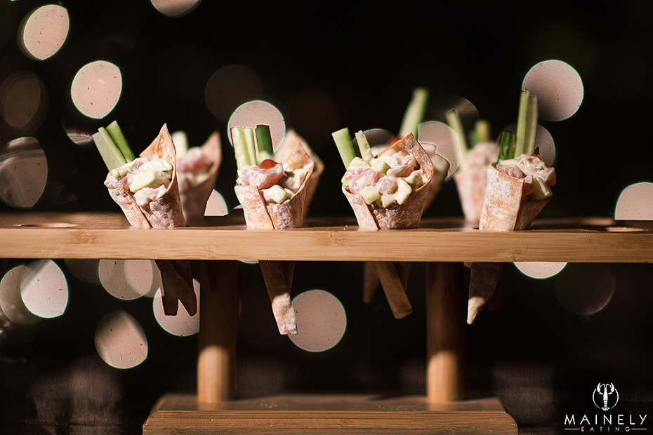 Tuna tartare in cones - appetizer recipe