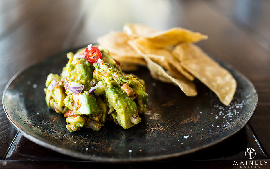 Quick and easy chunky guacamole with warm corn tortilla chips
