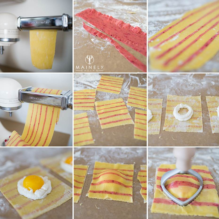 How to make striped pasta at home