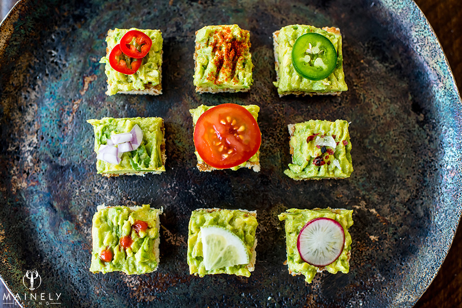 Different ideas for avocado toast toppings