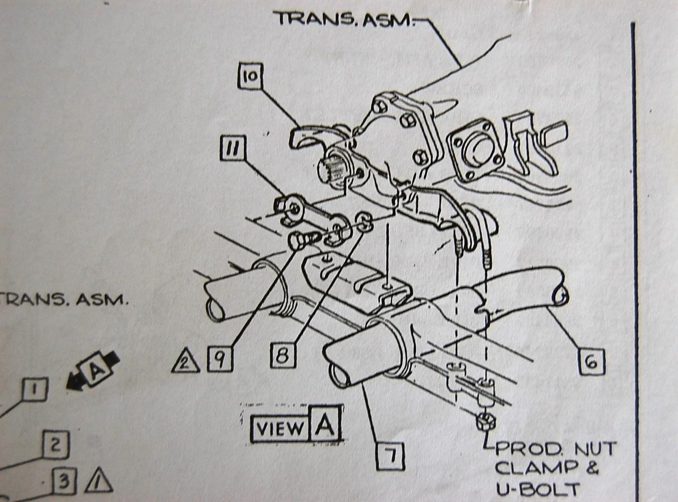 hight resolution of exhaust center hanger bracket install corvetteforum chevrolet manual transmission mount diagram for a 1973 corvette