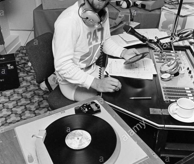 Noel Edmonds In His Prime During The Heydays Of The S Broadcasting On Radio One I Believe From A Hotel Room Somewhere