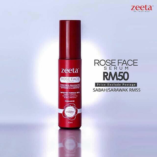Rose Face Serum Zeeta - Harga