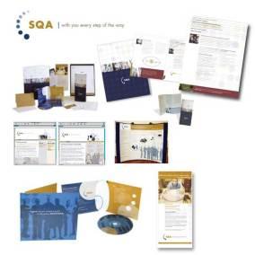 SQA brand collage
