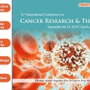 31st International Conference on Cancer Research and Therapy