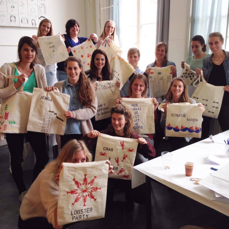 canvas tas - vrijgezellenfeest | #deeljeDIY @imakinNL