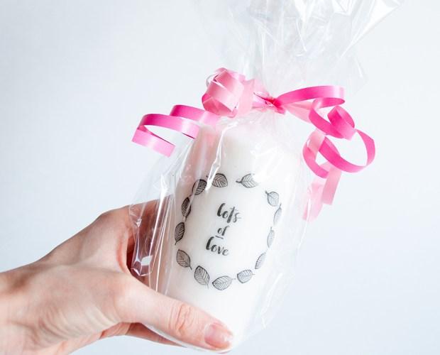 bestempelde kaars cadeau | IMAKIN