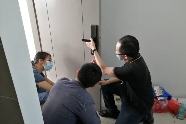 imt Smart Door Lock Installation