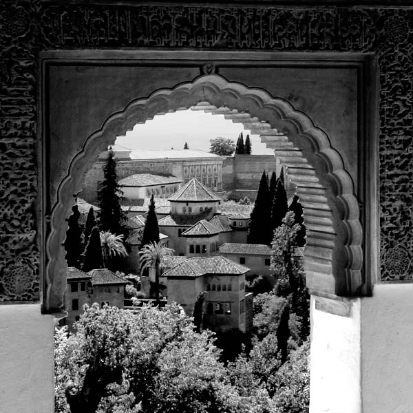 photograph of Alhambra archway