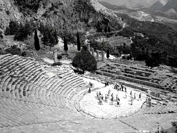 black and white photo of Greece