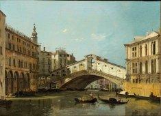 Ippolito Caffi, Venezia. Ponte di Rialto, 1845 – Venezia, Fondazione Musei Civici di Venezia-Galleria Internazionale d'Arte Moderna di Ca' Pesaro