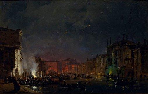 Ippolito Caffi, Venezia. Serenata sul Canal Grande, 1858 – Venezia, Fondazione Musei Civici di Venezia-Galleria Internazionale d'Arte Moderna di Ca' Pesaro