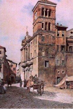 Ettore Roesler Franz, Santa Maria in Monticelli, 1880
