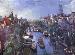 Oskar Kokoschka, Vista di Amsterdam, 1925