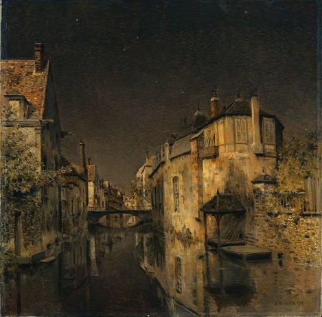 Jean-Charles Cazin, Mezzanotte, 1891