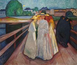 Edvard Munch, Donne sul ponte, 1903