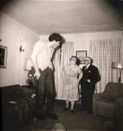 Jewish Giant, Taken at Home with His Parents in the Bronx, New York, 1970