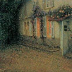 Henri Le Sidaner, Rose e Glicini sulla casa, 1907