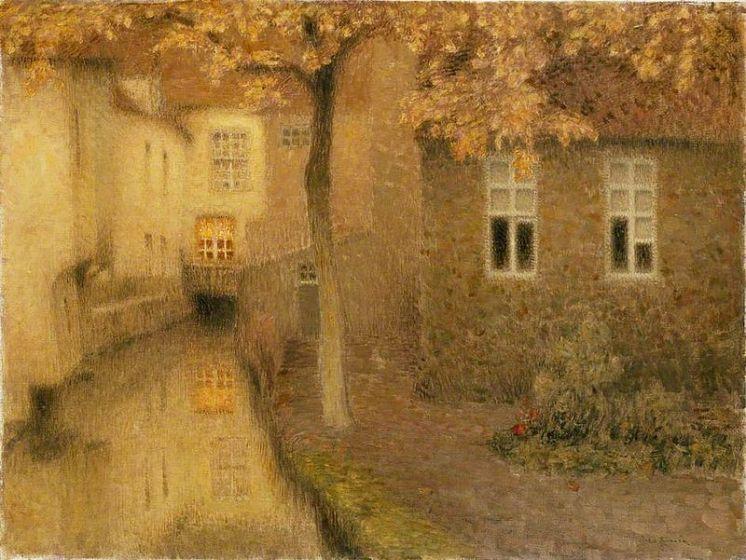 Henri Le Sidaner, Canale di Bruges, 1898