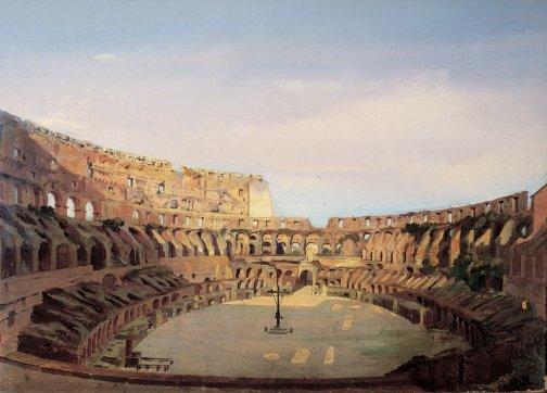 Ippolito Caffi, Interno del Colosseo, 1857. Roma, Museo di Roma Palazzo Braschi, Roma, Sovrintendenza Capitolina ai Beni Culturali. Archivio fotografico del Museo di Roma