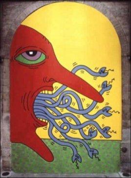 Keith Haring, I 10 Comandamenti, Tavola 1, 1985