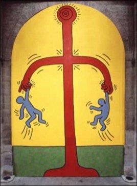Keith Haring, I 10 Comandamenti, Tavola 2, 1985