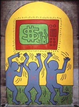 Keith Haring, I 10 Comandamenti, Tavola 5, 1985