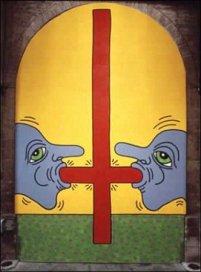 Keith Haring, I 10 Comandamenti, Tavola 7, 1985