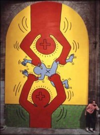 Keith Haring, I 10 Comandamenti, Tavola 9, 1985