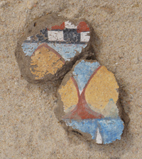 Fragment of a wall painting with mandrakes from the King's Palace
