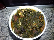 Afang Soup with the 'obstructions'
