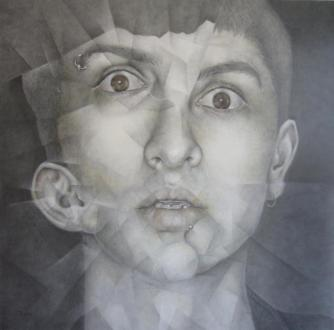Carlos Blanco. AUTORRETRATO 50 x 50 cm grafito sobre papel Zaragoza. 2012