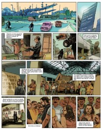 Barcelona. Los vagabundos de la chatarra. Jorge Carrión y Sagar. Página del cómic