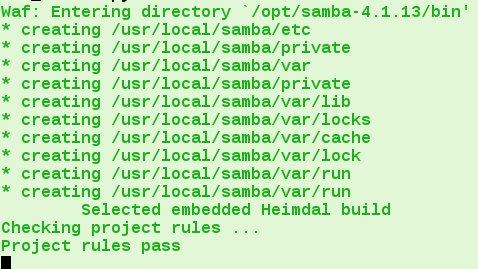compiling samba4