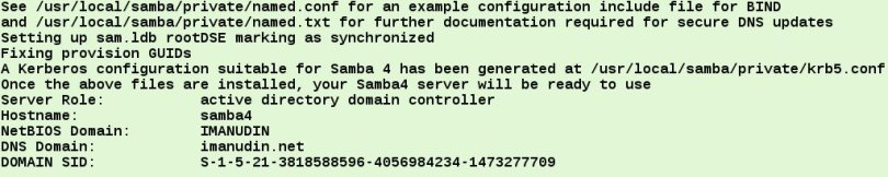 provisioning samba4