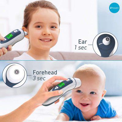 מד חום משולב לתינוק גם באוזן וגם במצח ללא מגע