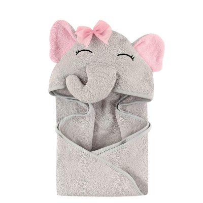 מגבת עם כובע פיל לתינוקת