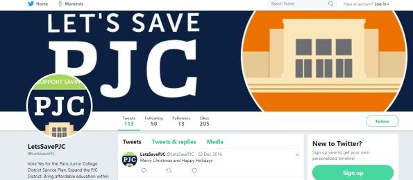 Twitter Campaign - Let's Save PJC