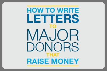 guide to writing major donor letters