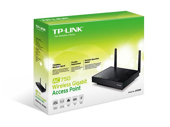 Acess Point TP-Link AC750 Dual Band Wireless Gigabit 300Mbps 1 Gigabit LAN 2 antenas - AP200