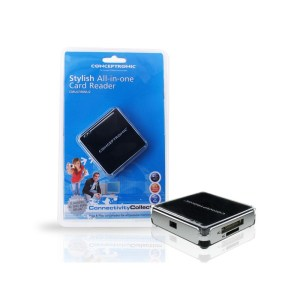 Leitor Cartoes CONCEPTRONIC All-In-One USB 2.0 Preto - CMULTIRWU2