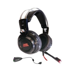 Auscultadores MARS GAMING Headset 40mm Neodymiun Ultra-Bass Surround 7.1 USB+Jack - Mh316