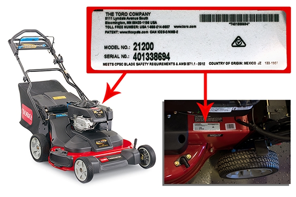 Find My Model Number Mower Products