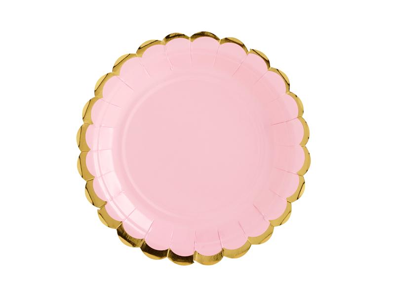 platos rosa pastel