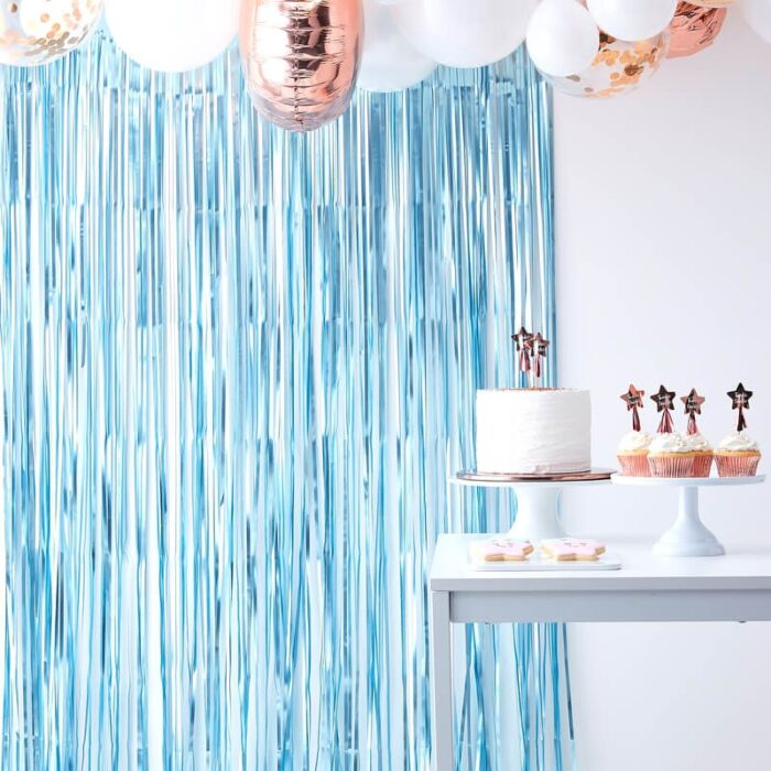 cortina azul fondo