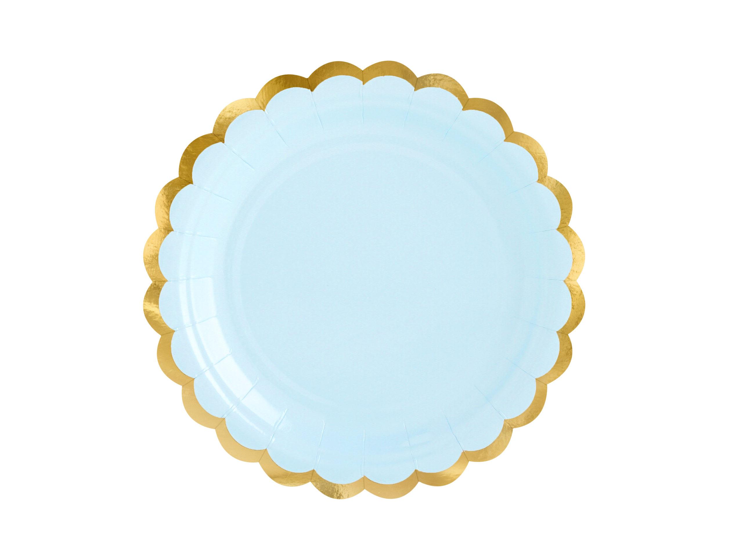 plato azul