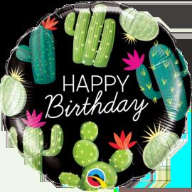 Globo-metalizado-redondo-cactus-feliz Cumpleaños